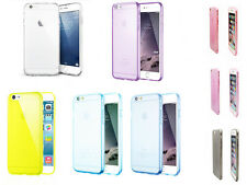 Colorful Transparent Silicone Rubber Ultra Thin Case For iPhone 6s / 6s Plus