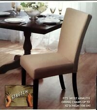 "STRETCH DINING CHAIR COVER BROWN, BEIGE, & BURGUNDY  PROTECT YOU CHAIRS  42"" !!!"
