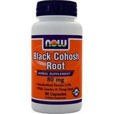 NOW Black Cohosh Root (80mg) in 90 caps buy 1-2-3 or more items & save
