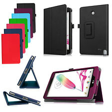 For LG G Pad F 8.0 8-Inch Tablet V495 V496 Folio PU Leather Stand Case Cover