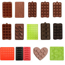 Silicone Chocolate Biscuit Cookie Candy Mould Cake Jelly Ice Cube Tray Mold