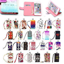 Flip Leather Case Cover Strap Wallet Card Stand for Samsung Galaxy Various Phone