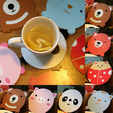 New Fashion Home Party  Pony Tablemat Round Cartoon Wood Coaster Cute Placemat