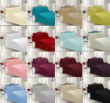 Luxury Plain Dyed Duvet Cover Set With 2 Pillow Cases Bedding Quilt Cover Set