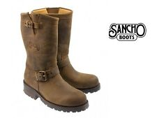 NEW SANCHO Crazy Castano Brown Nubuck Biker Boots LADIES LEATHER COWBOY BOOTS