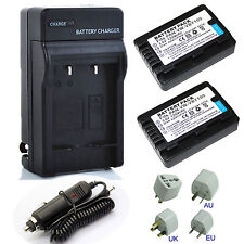 Battery /  Charger Kits For Panasonic HC-V110,HC-V130,HC-V201 Full HD Camcorder