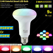 AC85-265V 2.4G Mi.light E27 9W Mushroom Par30 RGBW or RGBWW Smart LED Wifi Bulb