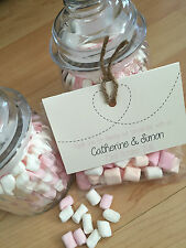 Personalised retro/rustic favour bags with Sweets birthday/wedding/party/hen