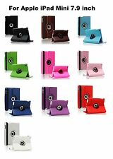 """360 ° leather Stand Case Cover 7.9 """" Apple iPad Mini 2 2nd 3 3rd 4 4th Gen"""