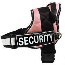 SERVICE DOG VEST Harness Reflective Velcro Patches IN TRAINING THERAPY DOG