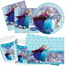 DISNEY FROZEN PARTY KITS GIRLS PLATES CUPS NAPKINS TABLECOVER FOR 8 16 24 32 40