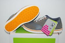 NIB CROCS PRESTON GOLF SHOES 7 8 9 CHARCOAL GREY PUMPKIN WATER RESISTANT LEATHER