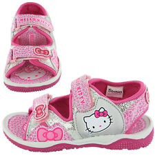 Hello Kitty Neptune Girls Kids Sandals - Pink/Silver (Sizes 6,7,8,9,10,11,12)