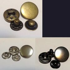 20 Set 15mm Snap Fasteners Popper Press Stud Sewing Leather Button