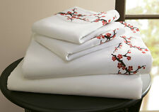 Collections Etc Cherry Blossoms Asian Sheet Set