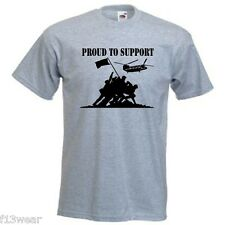 PROUD TO SUPPORT - LOTS OF COLOURS   T SHIRT -  UN-OFFICIAL  HELP FOR HEROES
