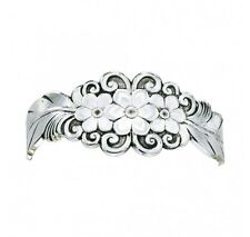 Montana Silversmiths - Silver Flower / Feather Cuff Bracelet - BC1016RTS - New