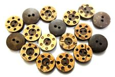 """THE TELEPHONE 2 Hole COCONUT SHELL Button Sewing Scrapbook 13 mm (1/2"""") Size 20"""