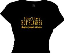 menopause jokes t shirt power surges womens funny retirement gifts ladies tops
