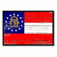 Georgia State Flag Shabby Chic Gift Ideas Office Home Wall Décor Patriotic Art