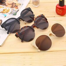 Retro Black Lens Vintage Men Women Round Frame Sunglasses Glasses Eyewear New FT