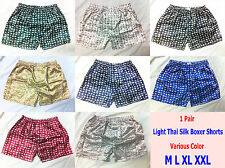 Light Thai Silk Mens Sleepwear Boxers Underwear Shorts Pajamas Panties Elephant
