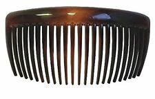 PARCELONA FRENCH LARGE TORTOISE SHELL 23 TEETH HAIR SIDE COMBS 4.5 INCH
