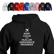 Keep Calm And Hug An Aerospace Engineer Gift Parody Hoodie
