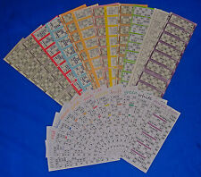 8 SETS OF HOUSIE BINGO FLYERS CHOOSE FROM 12 COLOURS AND 6 OR 12 TO VIEW
