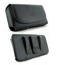 Leather Belt Clip Pouch Cover for Cell Phone WITH Hybrid or Ballistic Case on it