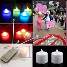 24/Box LED Light Candle Electronic Flameless Smokeless & Remote Control NEW