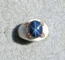 EPOXY LINDE LINDY CORNFLOWER BLUE STAR SAPPHIRE CREATED SECOND RING YGP NPM