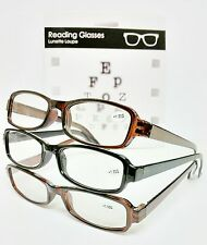 NEW 3 Pairs Mens Ladies Gents Womens Reading Glasses Frames Designer Cheap Retro