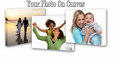 """Personal Photo/Picture/Pic on Canvas Print 16"""" x 12"""" Framed A3 Birthday gift"""