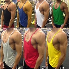 Plain Bodybuilding muscle stringer, ibiza, zyzz vest in eight colours - S,M,L,XL