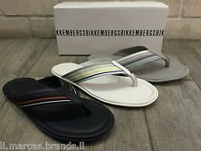 Dirk Bikkembergs Mens Flip Flop Shoes Leather, Beach Sandal 762 - New In Box