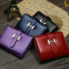 Fashion Genuine Leather Women Wallet Short Small Clutch Purse Bag Card Holder
