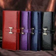 Fashion New Women Clutch Wallet Genuine Leather Long Purse Handbag Card Holder