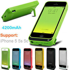 4200 mAH External Rechargeable Backup Battery Case For I Phone 5 5s & 5c