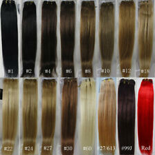 "AAA+ 15""-36"" Remy Human Hair Weft Weaving Extensions Straight 100g Width 59"" UK"