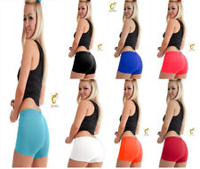 New Women's Ladies Girls Neon Lycra Stretchy Sexy Hot Pants Dance Party Shorts