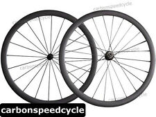 NEW Carbon Road Bicycle Wheel 38mm Clincher/Tubular Powerway R13 Hubs+424 Spokes