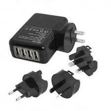 NEW 4 Port USB Travel Charger Mains Wall AC Multi Adapter With AU/EU/US/UK Plug