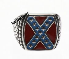 Confederate Flag Ring  Rebel Ring Stainless Steel