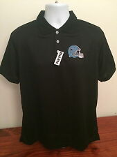 NEW NFL DALLAS COWBOYS HELMET PATCH DRI FIT BLACK POLO GOLF SHIRT *ALL SIZES*