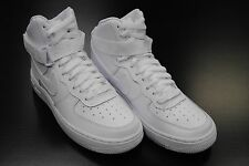 [653998 100] KID'S GS NEW NIKE AIR FORCE 1 HIGH ALL WHITE GRADE SCHOOL YOUTH WK5
