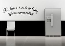 Kitchen Family Together Quote Wall Sticker Decal Transfer Mural Stencil Art