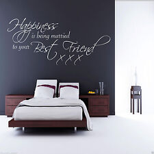MARRIED TO YOUR BESTFRIEND Wall Art Sticker Quote Decal Mural Stencil Transfer