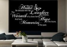 Family Home Memories Room Wall Art Sticker Quote Decal Mural Stencil Transfer