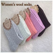 Sale! 3 Pairs Women's Wool Socks Pure Color for Fall/Winter/Spring 30% Off